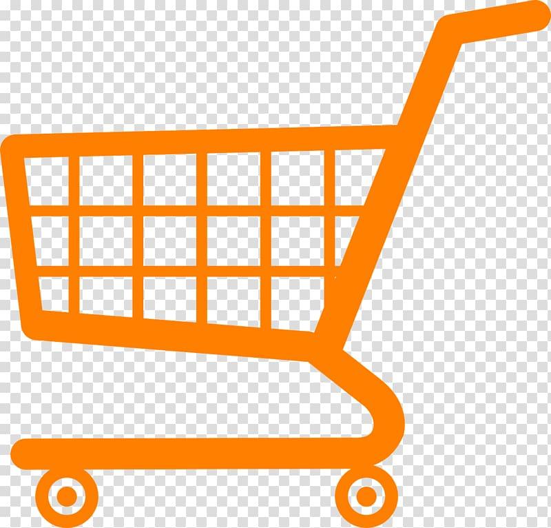 Orange shopping cart illustration, Amazon.com Shopping cart.