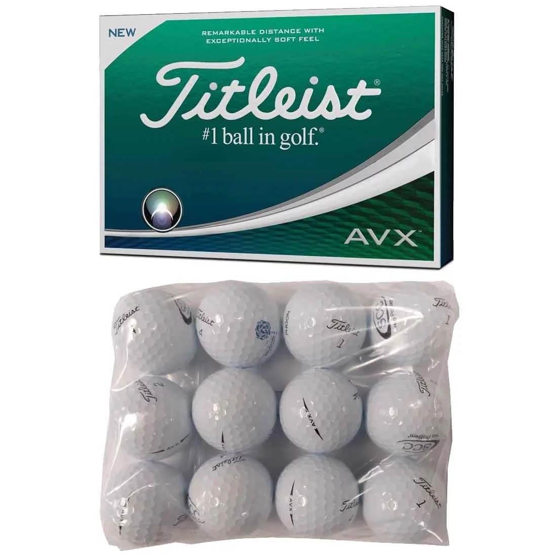 Titleist AVX Logo Overrun Golf Balls.