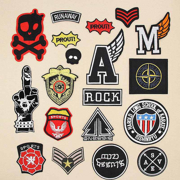 2019 Quality Military Sets Letter Gesture Skull Badge Patches Logo Iron On  Cheap Embroidered Patches Appliques For Clothing Patch Badges DIY Mili From.