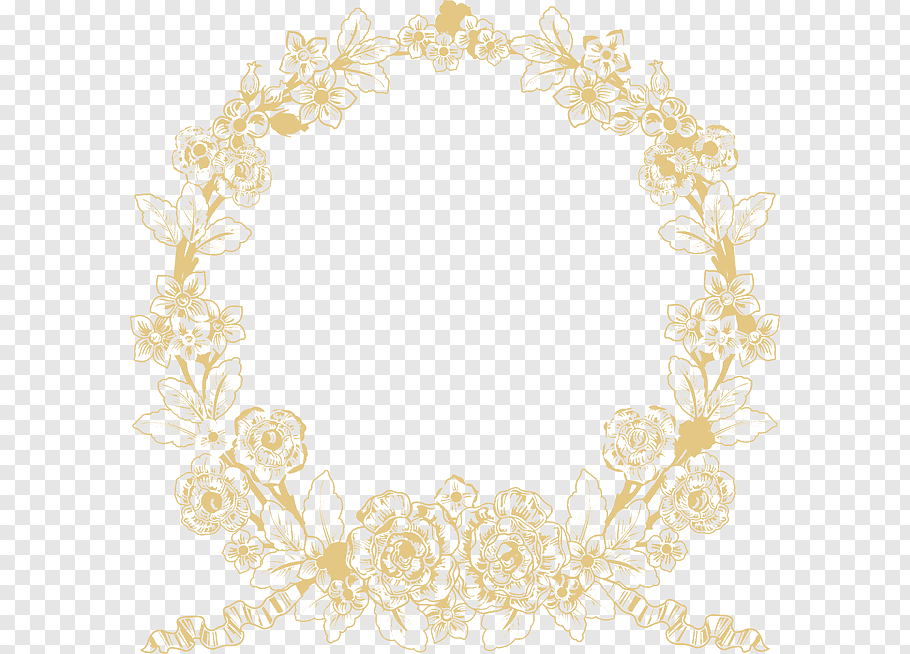White Wedding Ceremony Supply Pattern, Wedding logo, yellow.