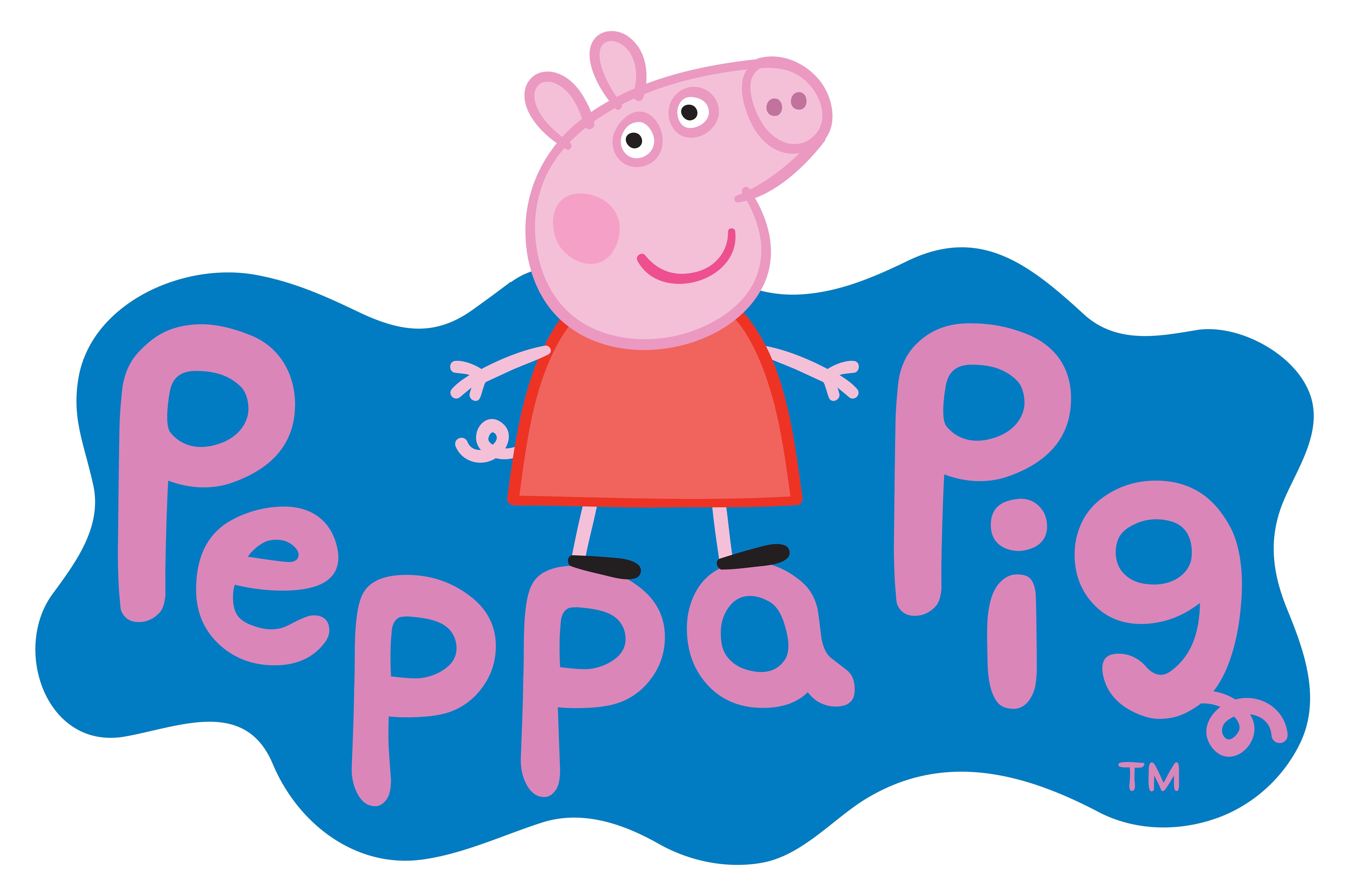 Peppa Pig Logo Transparent PNG Clip Art Image.