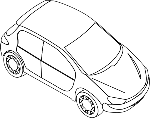 Peugeot Silhouette racing car Drawing Clip art.