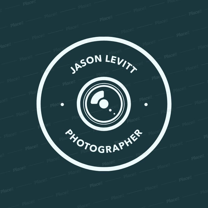 Professional Photographer Logo Design Template 1438.