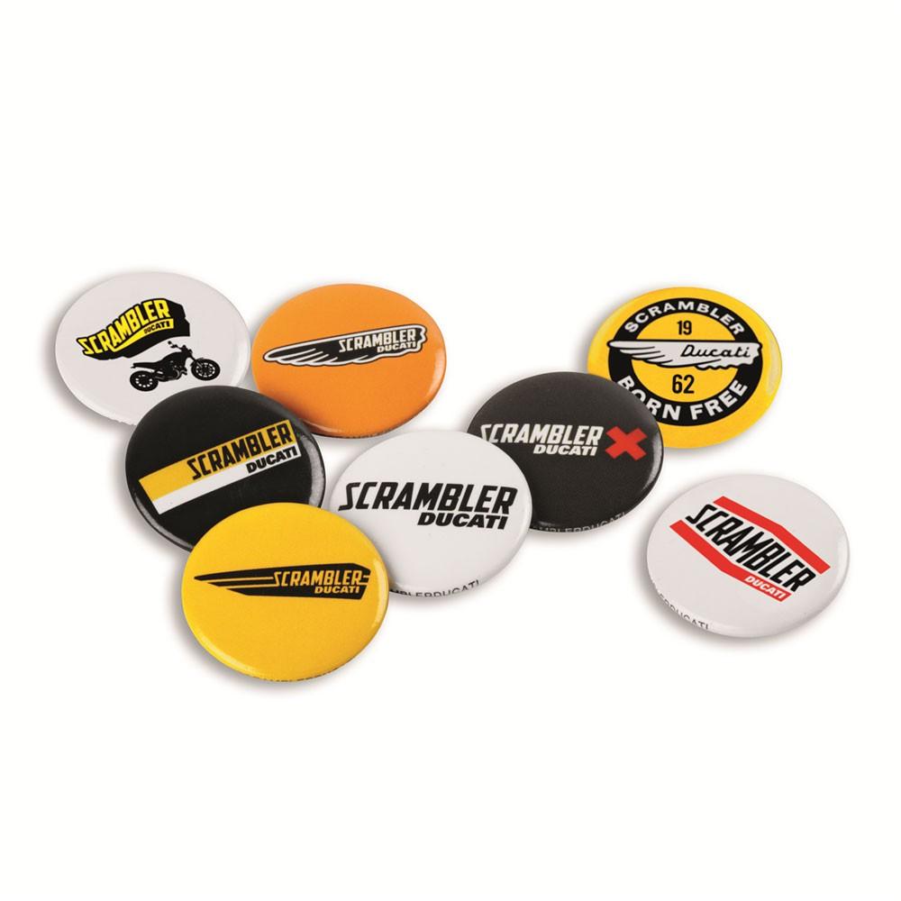 Ducati Scrambler Logo Pins.