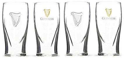 Set Of 4 20oz Guinness Tulip Pint Glasses Pub Draught.