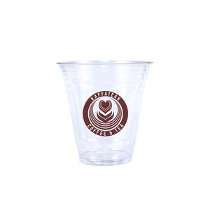 12oz Custom Printed Clear Plastic PET Cups.