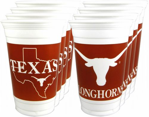 Texas Longhorns Logo Plastic Cups, (24) 20 oz..