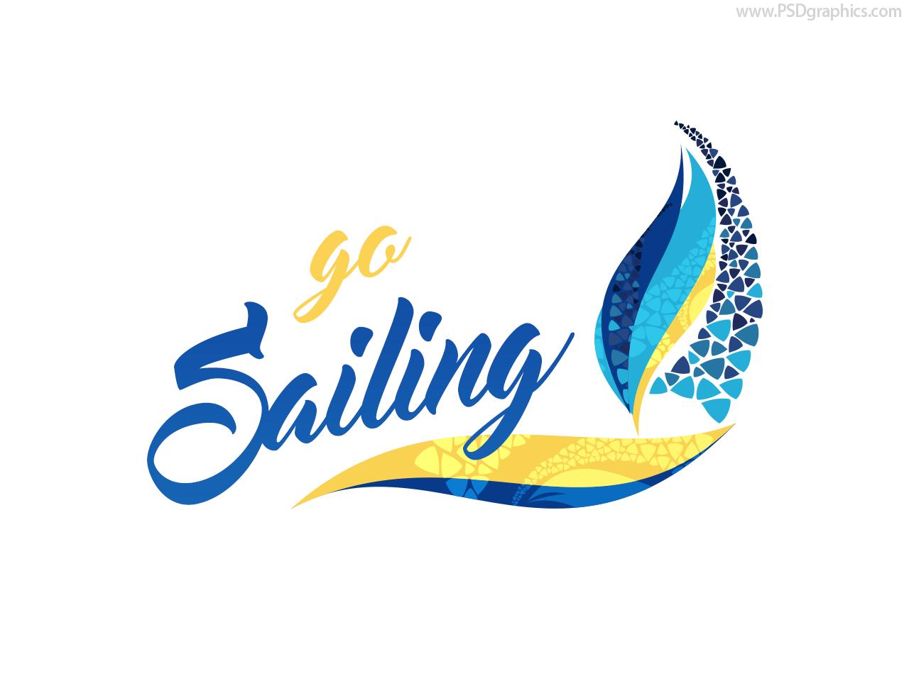 Sailing logo, PSD and AI templates.