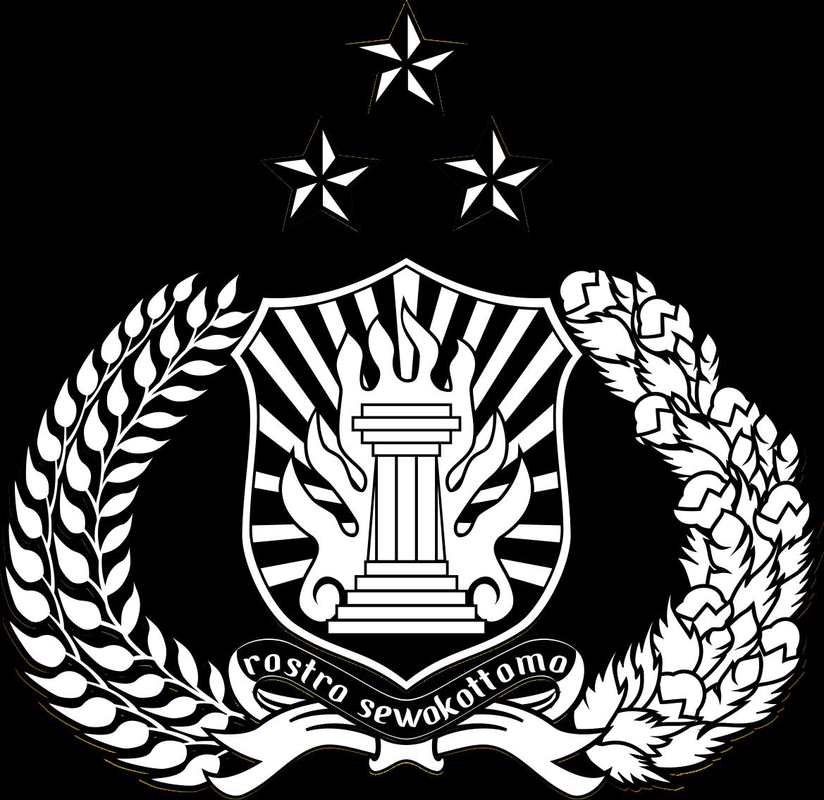 Lambang Polri (Polisi Republik Indonesia).