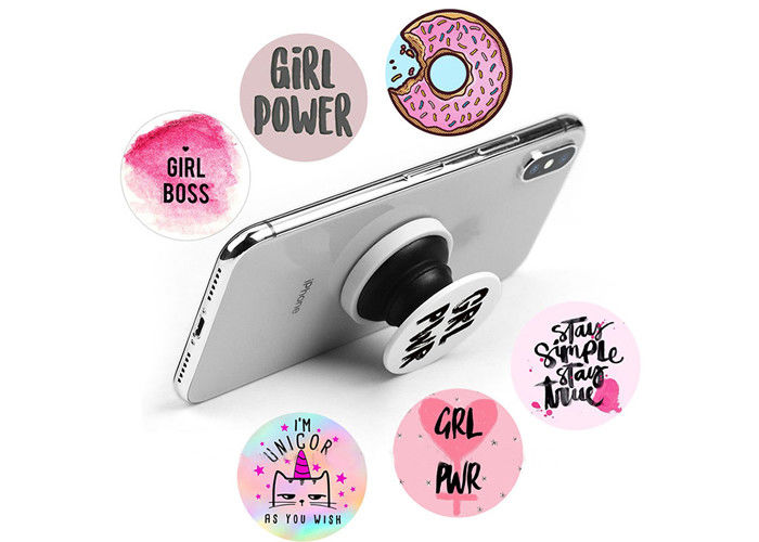 High Definition Logo ABS And TPU Mobile Phone Popsocket Holder With Strong  Air Pop Function.