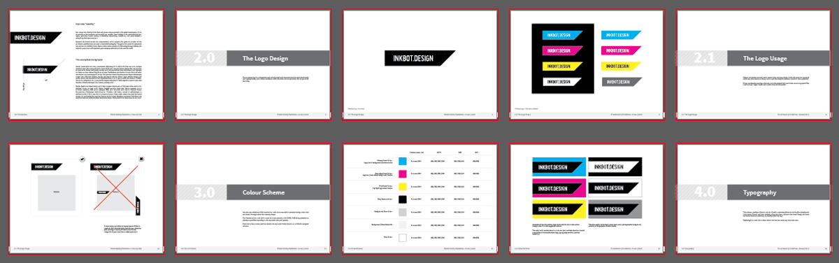 Free Brand Guidelines Template.