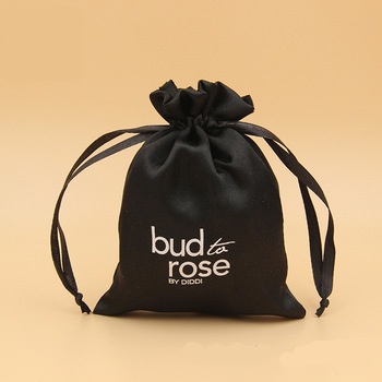 Wholesale Custom Large Drawstring Satin Bag With Logo Printed.