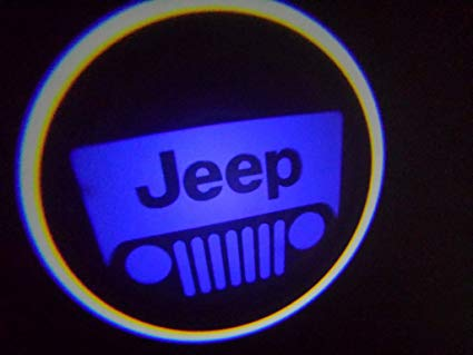 WIRELESS Jeep BLUE Ghost Door Logo Projector Shadow Puddle Laser Led Lights  (Qty 2) FROM USA.