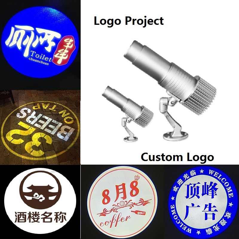 Logo Projector Light LED Door Shadow Shop Building Big Project Commercial  Light Advertisement Ads Silver Body Long Distance LED.