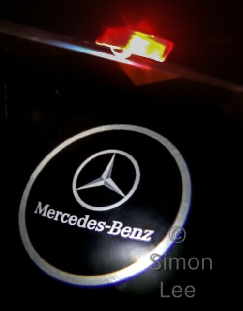 2 X Car Door MERCEDES Logo Projector Puddle Light CLA CLS CLK UK SELLER.