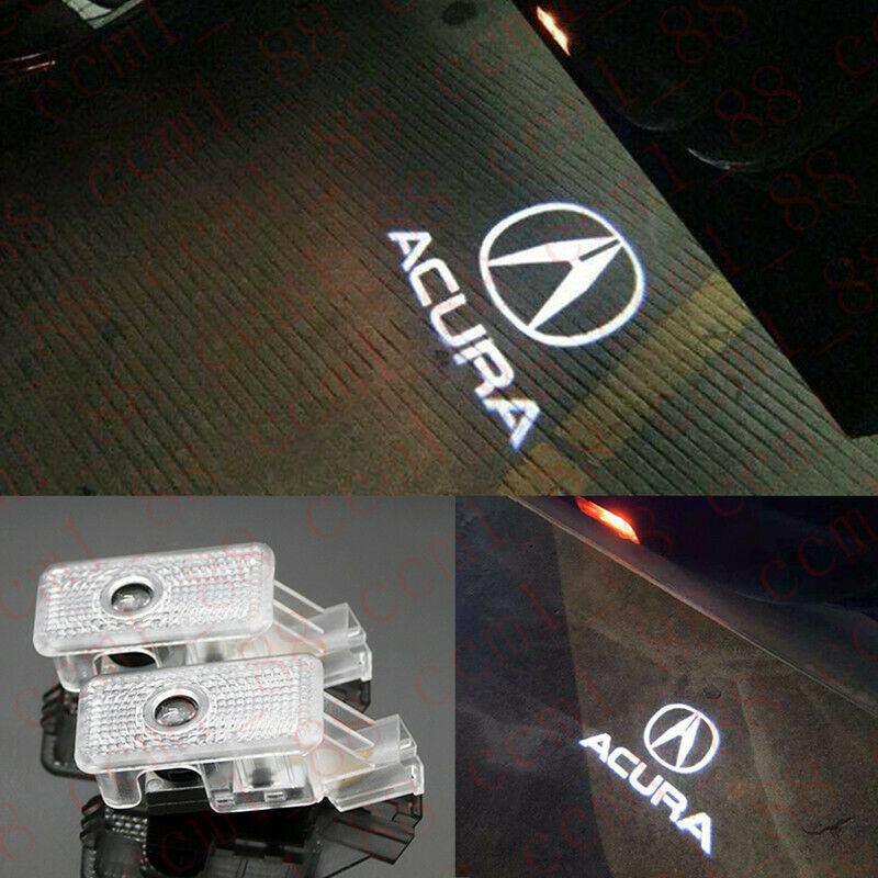 Details about 2x Car LED Door Ghost Logo Projector Puddle Lights For Acura  MDX RLX ZDX TL TLX.