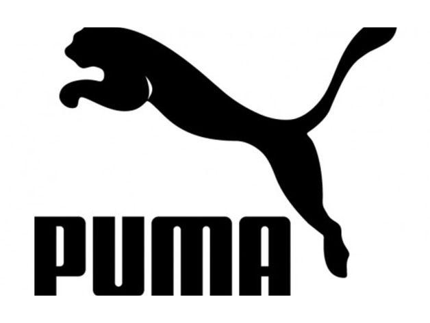 Black and White Puma Logo.