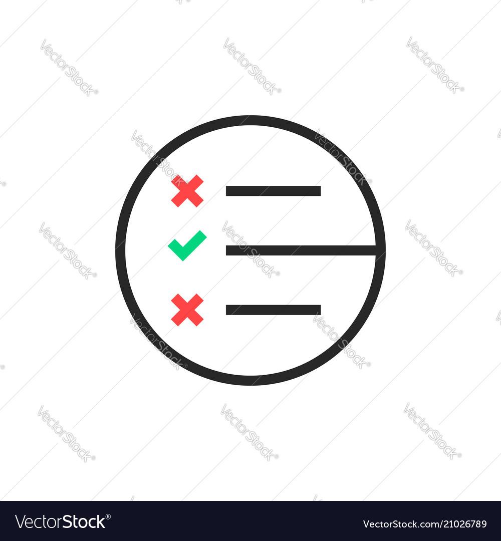 Black thin line questionnaire round logo.