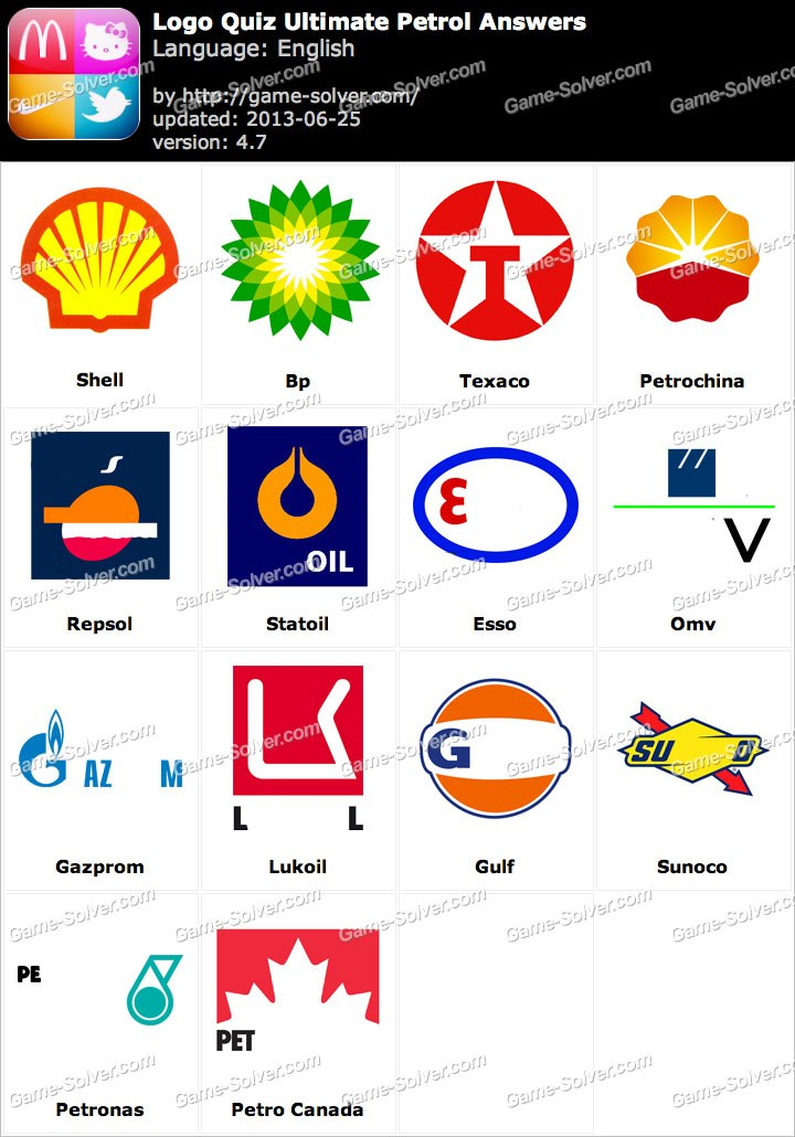 Logo Quiz Ultimate Petrol Answers.
