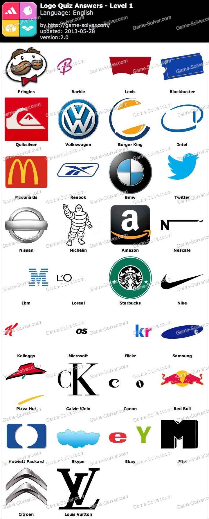 Logo Quiz Answers.