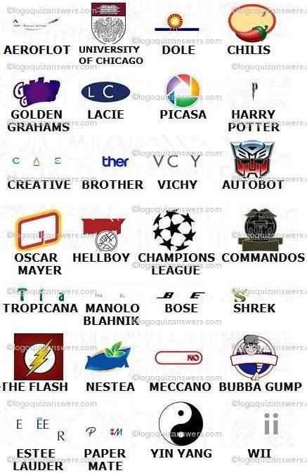 Logos Quiz Level 12 Answers.