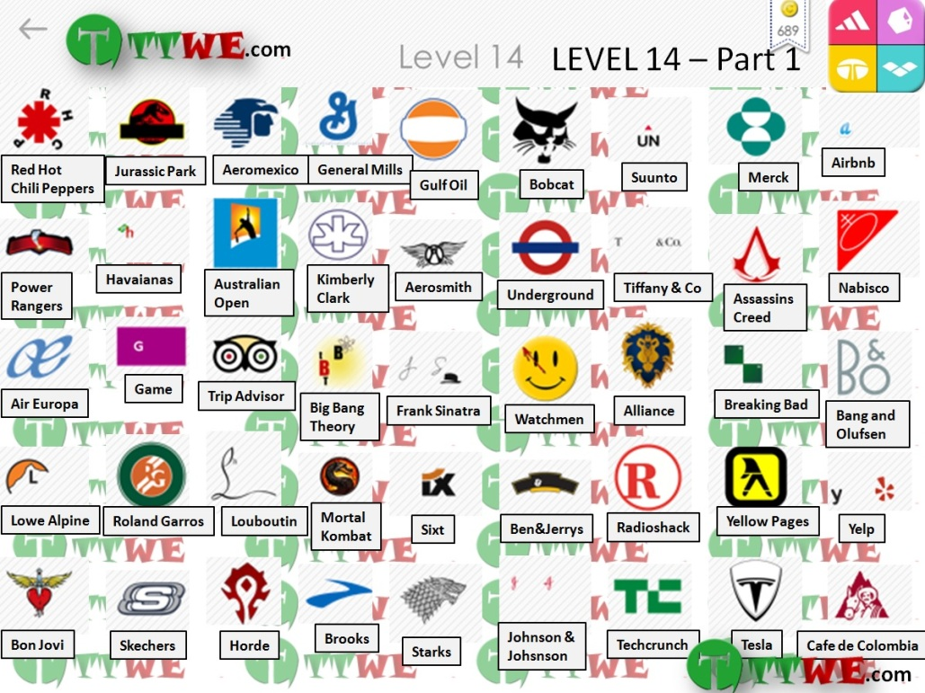 Logos Quiz (AticoD) Answers And Solution Iphone Level 14.