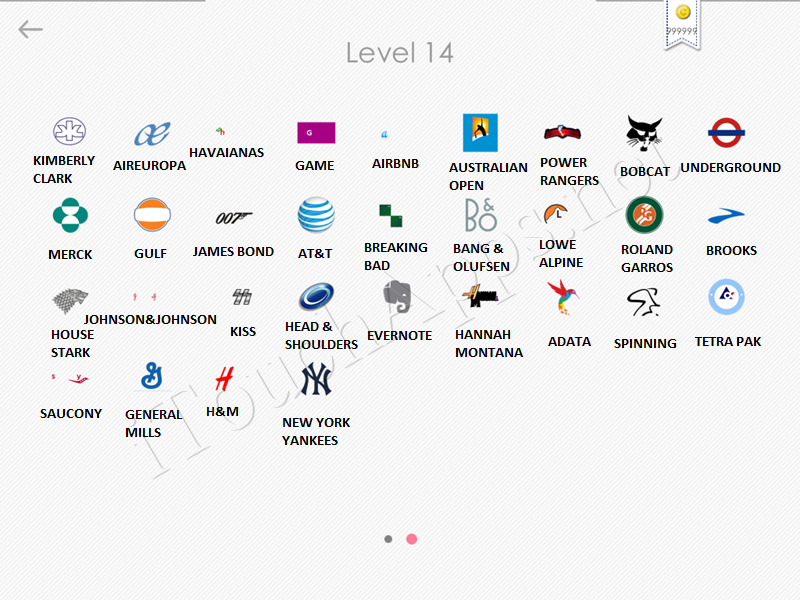 Logos Quiz Game Answers: Level 14 Part 2.