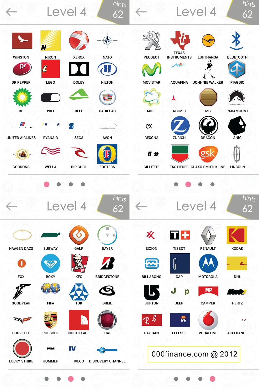 Logos Quiz Answers for iPhone, iPad, iPod & Android App.