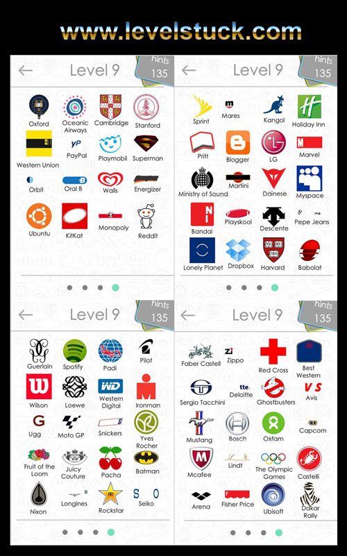 Logos Quiz Answers For Iphone Level 1 to Level 9.