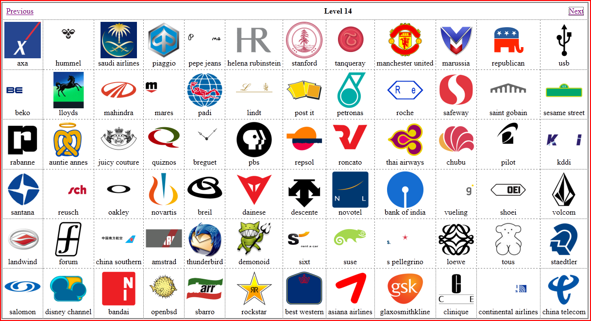 Code Junction: Logo Quiz Solution: Level 13 and 14.