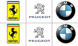 Tricky pictures challenge players to spot the real logo from.