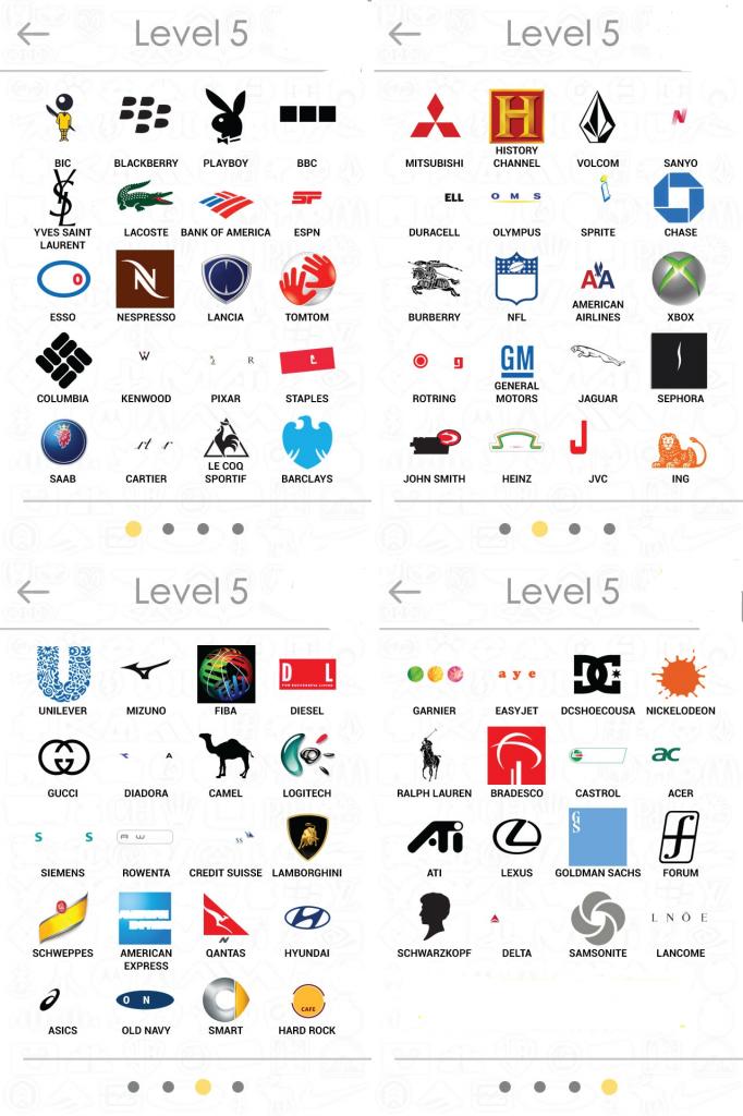 Logos Quiz Answers Level 5.