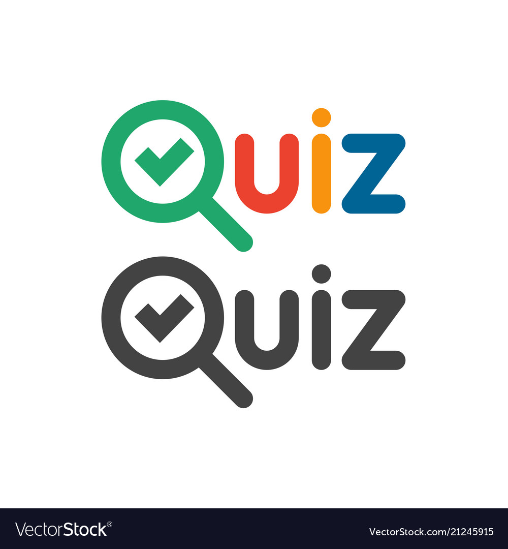 Quiz game show logo quizzes and test competition.