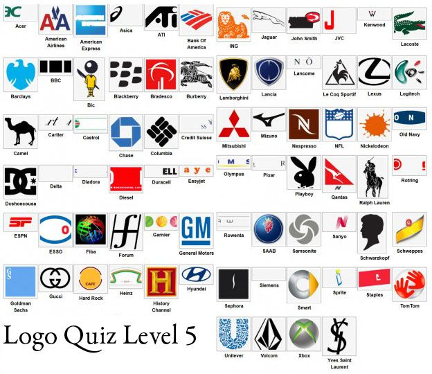 Logo quiz answer for all level, this is the famous logo quiz.