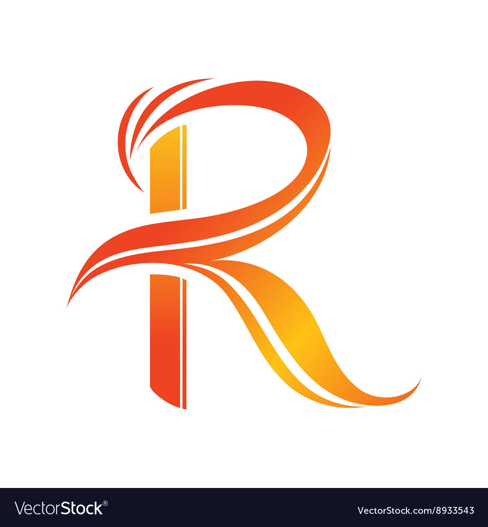 Letter R logo design template.