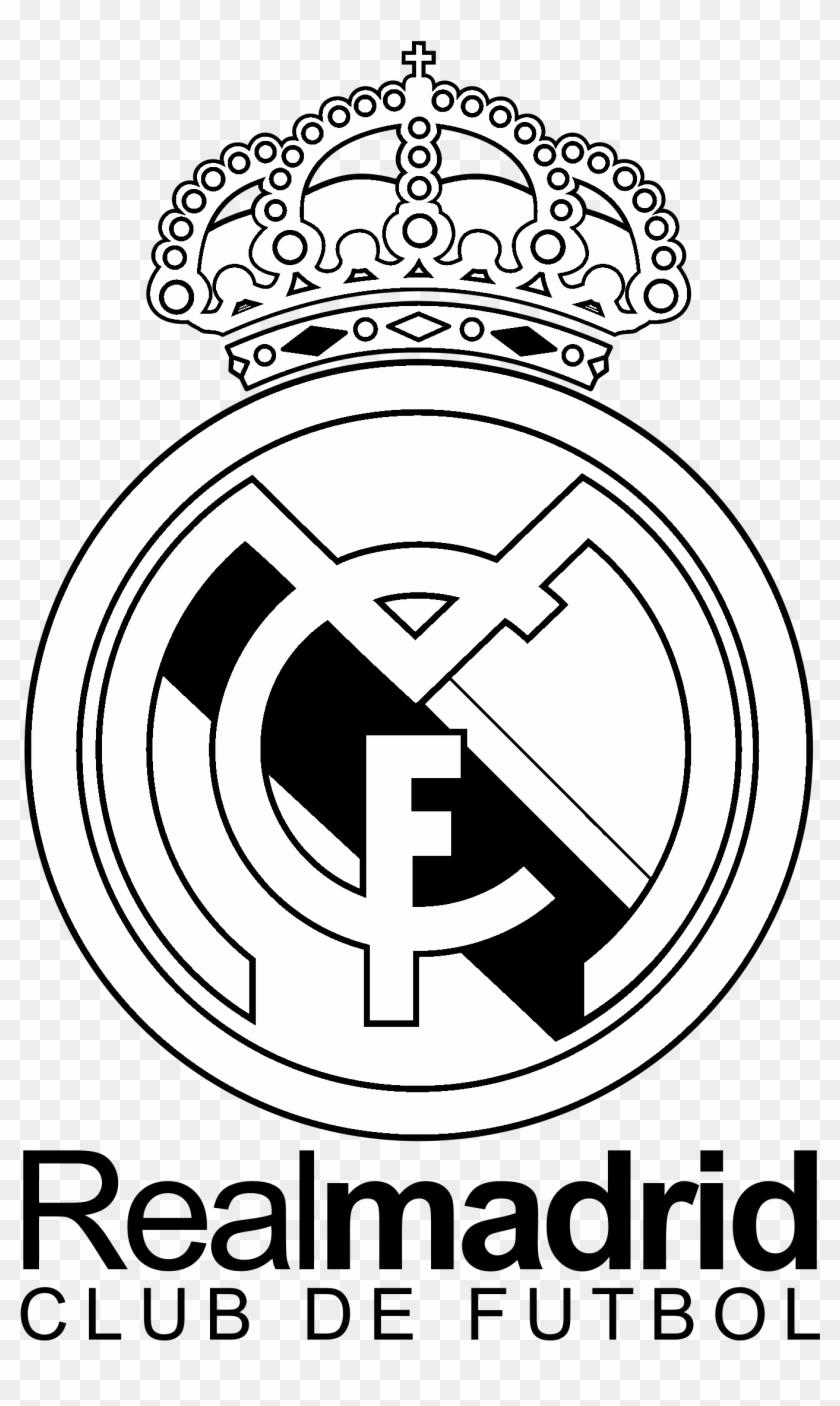 Real Madrid C F Centenario Logo Black And White.