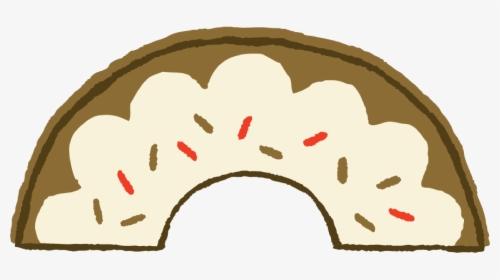 Donut Clipart Half Eaten.