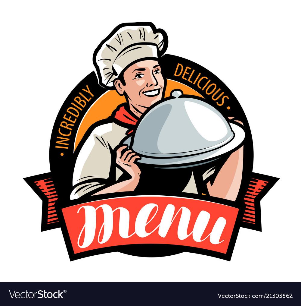 Restaurant or cafe menu logo or label.