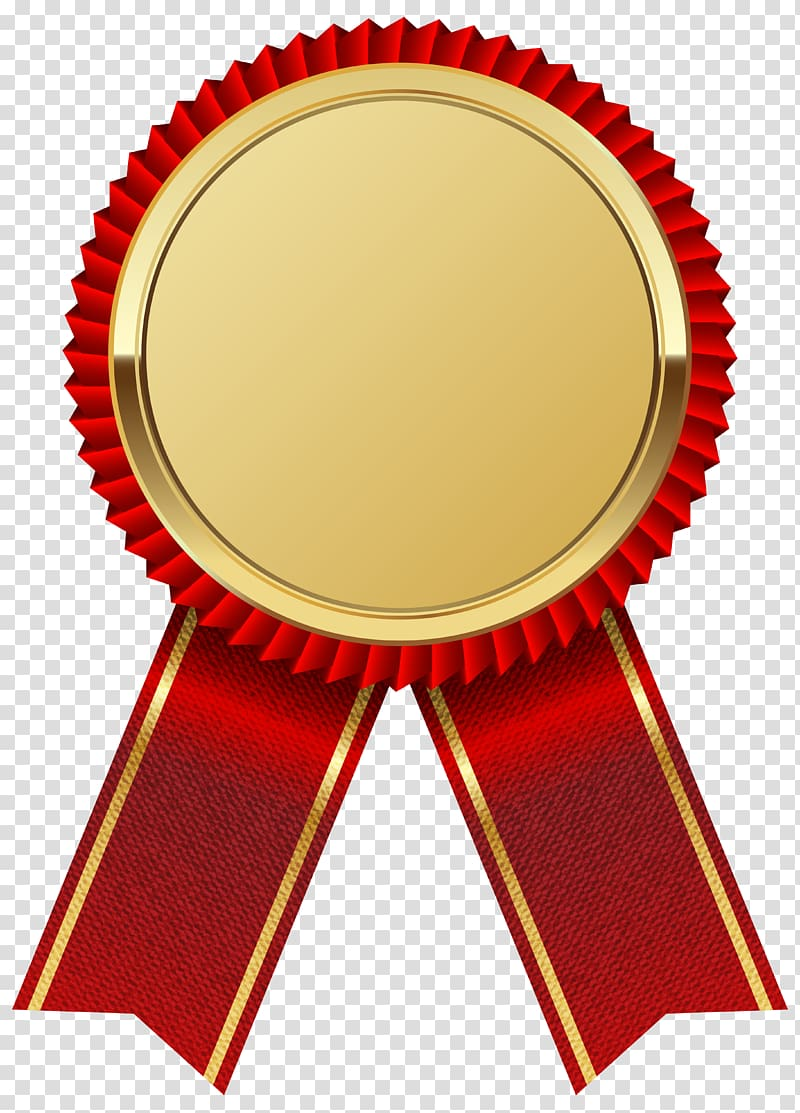 Ribbon , Gold Medal with Red Ribbon , red and gold ribbon.