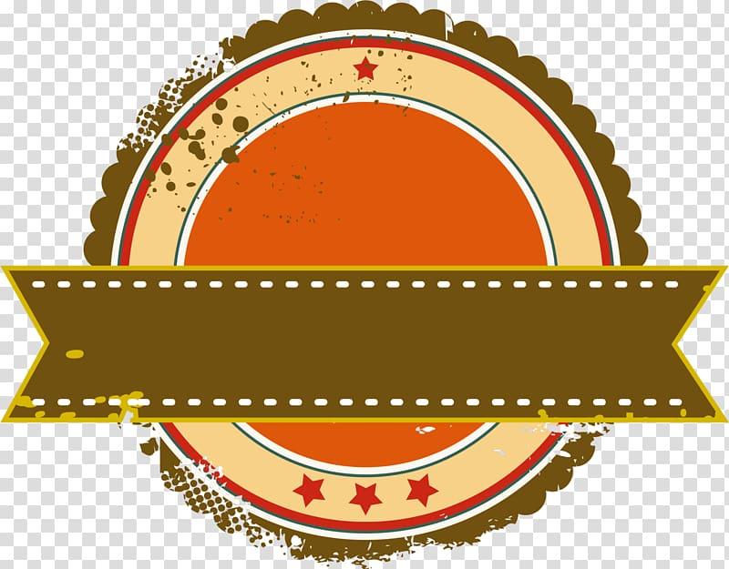 French fries Roseville Logo Ribbon, Brown ribbon Badge.