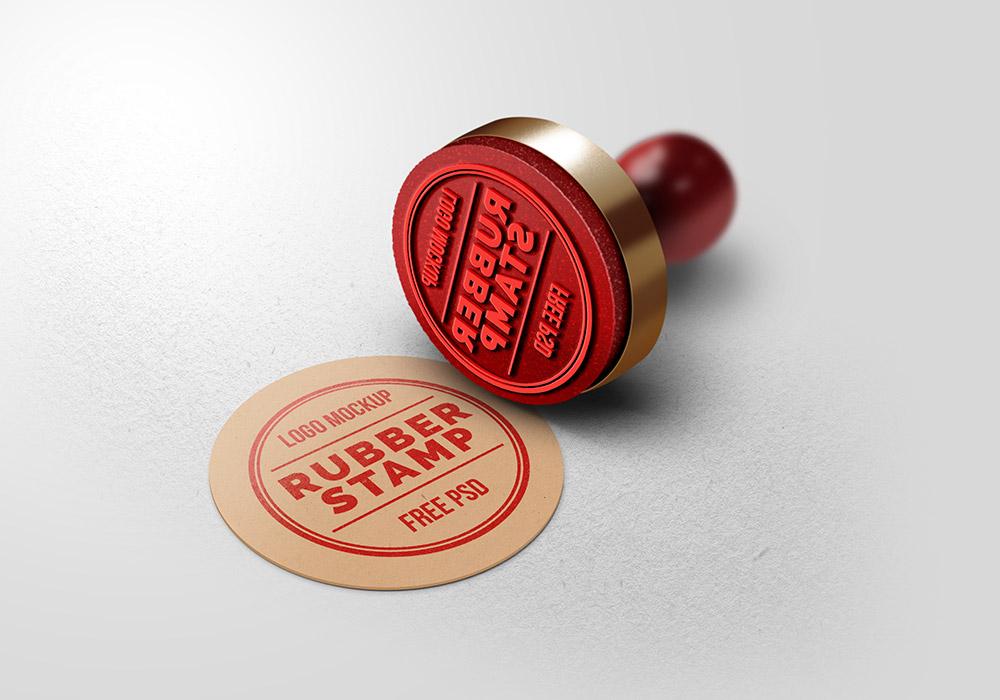 Rubber stamp Logos.