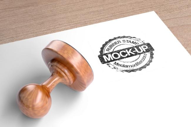Round Ink Stamp Logo Mockup Generator.