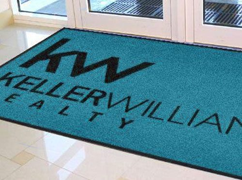 ⇒ PERSONALIZED REAL ESTATE LOGO RUGS AND MATS.