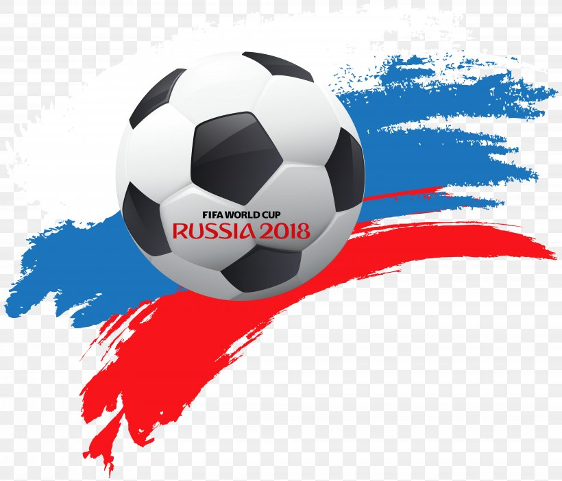 World Cup Russia 2018 With Soccer Ball Clip Art, PNG.