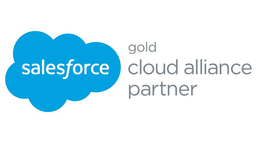 Salesforce Gold Cloud Alliance Partner Vector Logo.