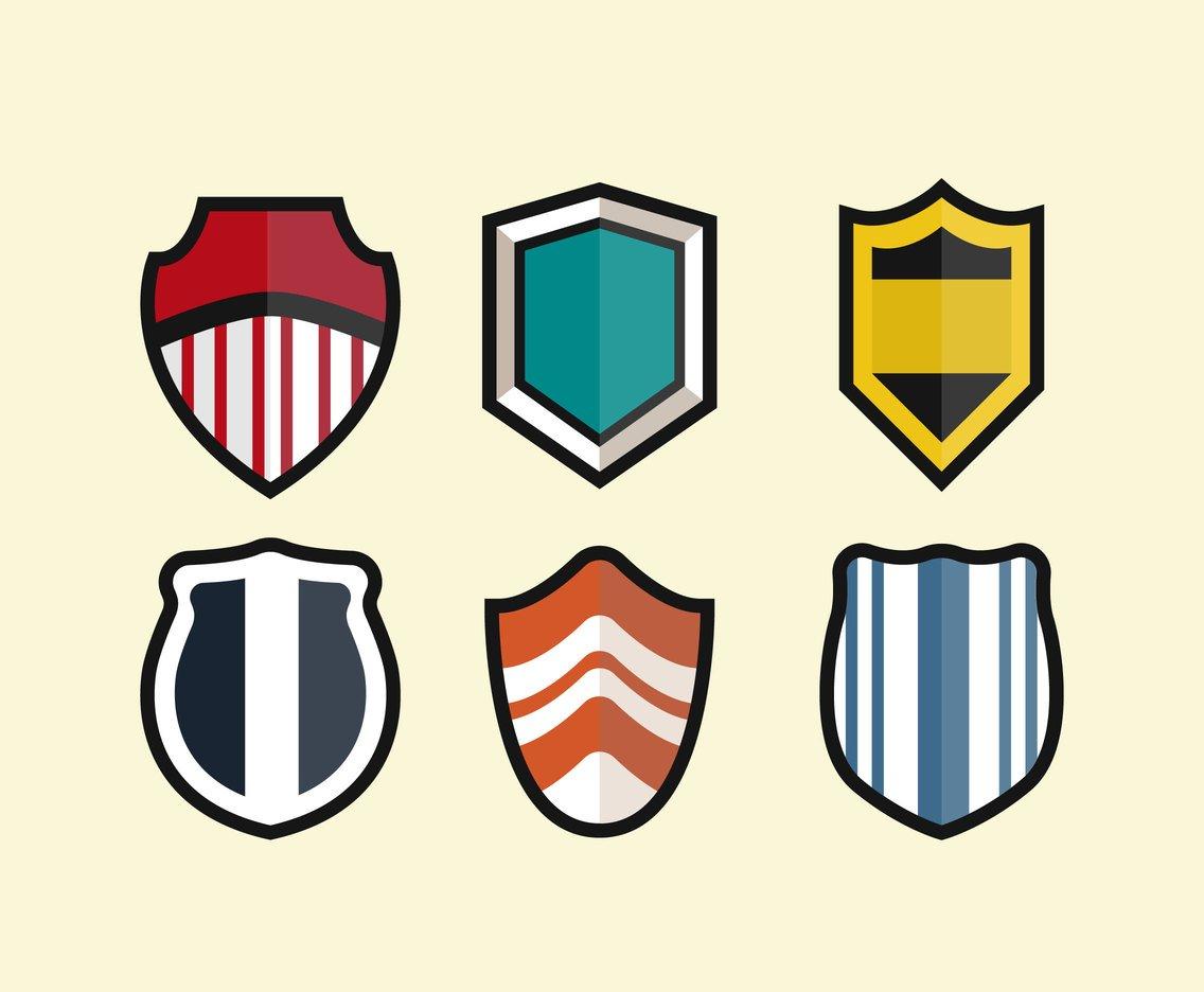 Shield Shapes Clipart Vector Vector Art & Graphics.