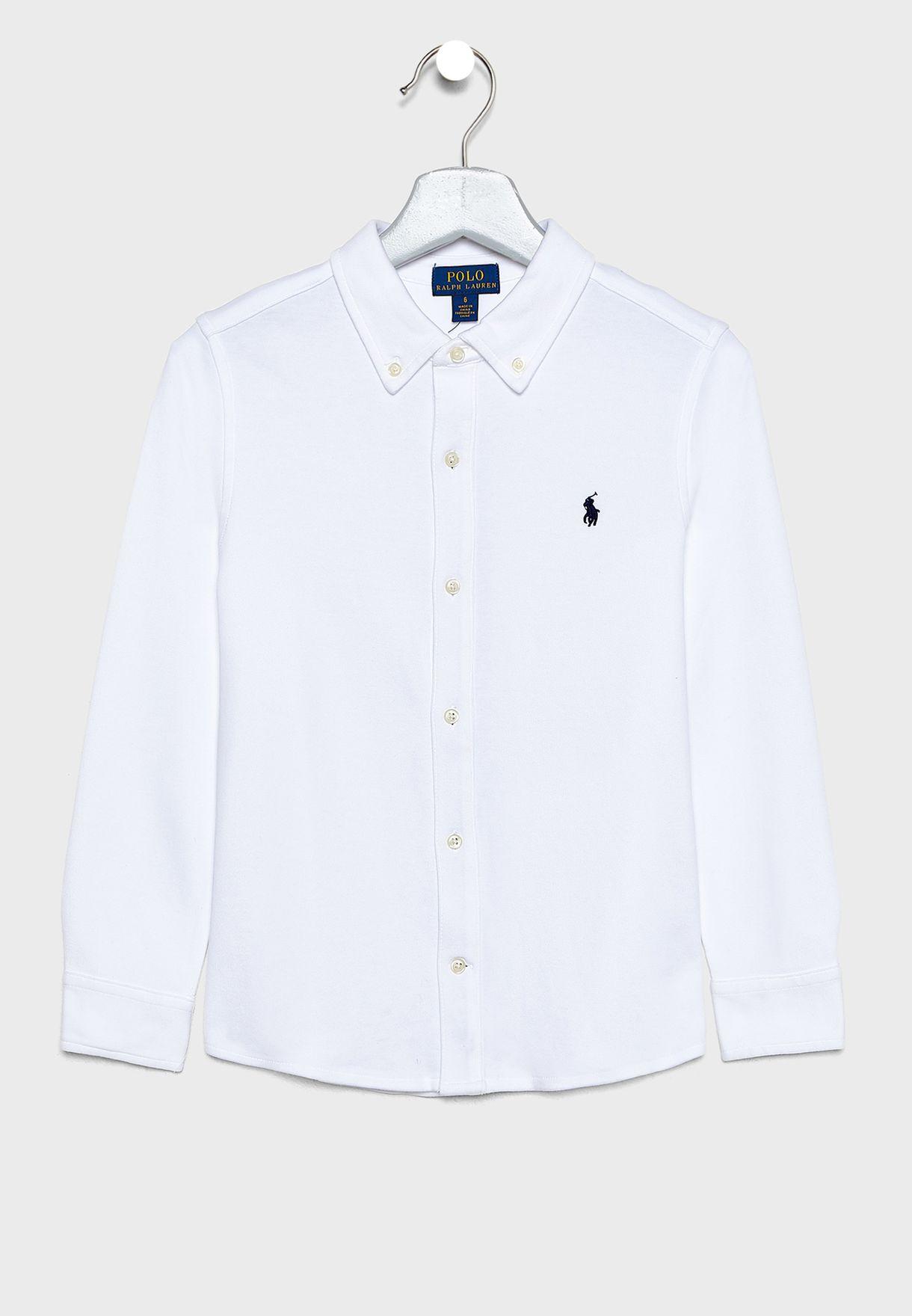 Little Button Down Logo Shirt.