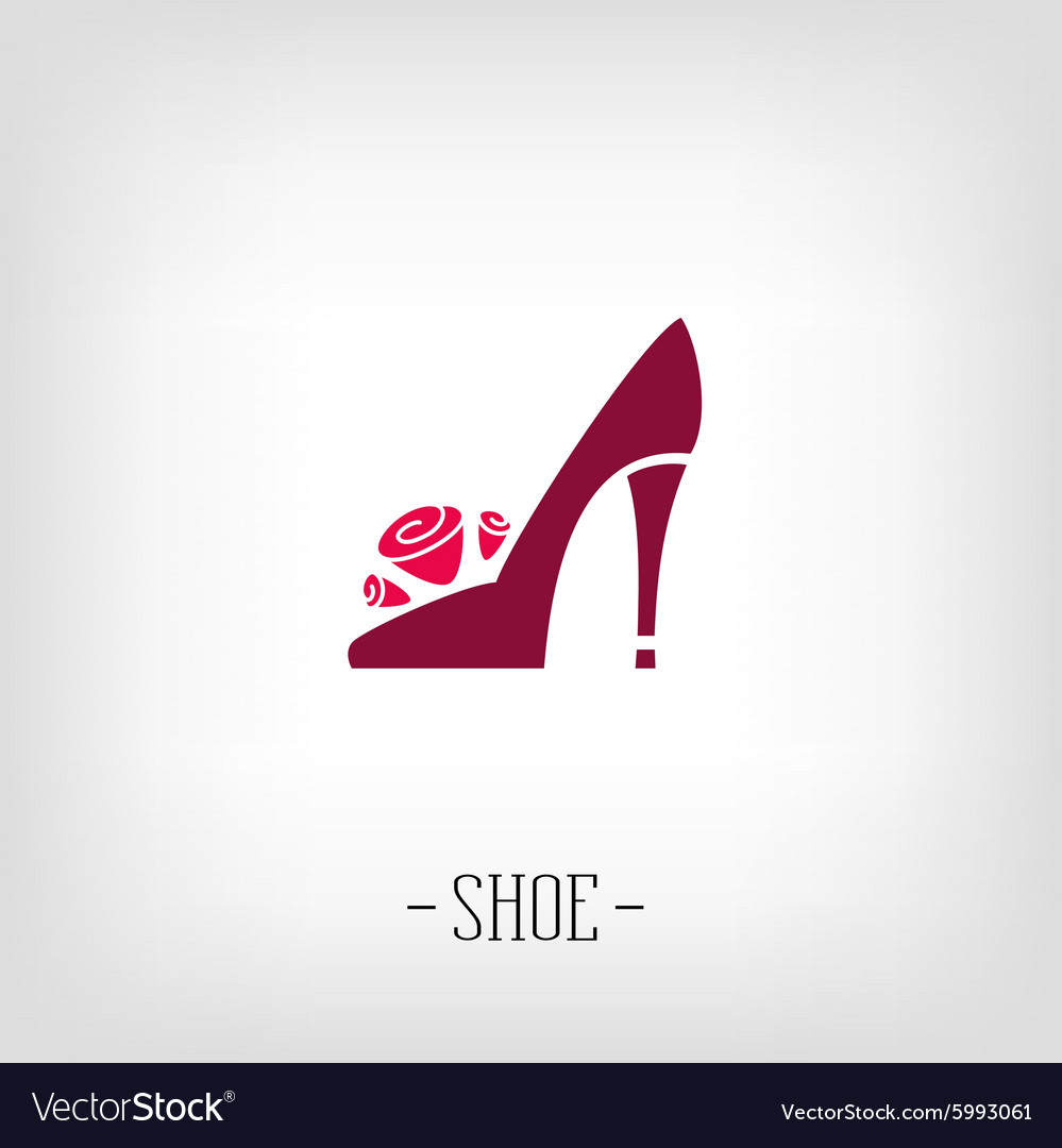 Stylized womens shoes Logo shoe store.
