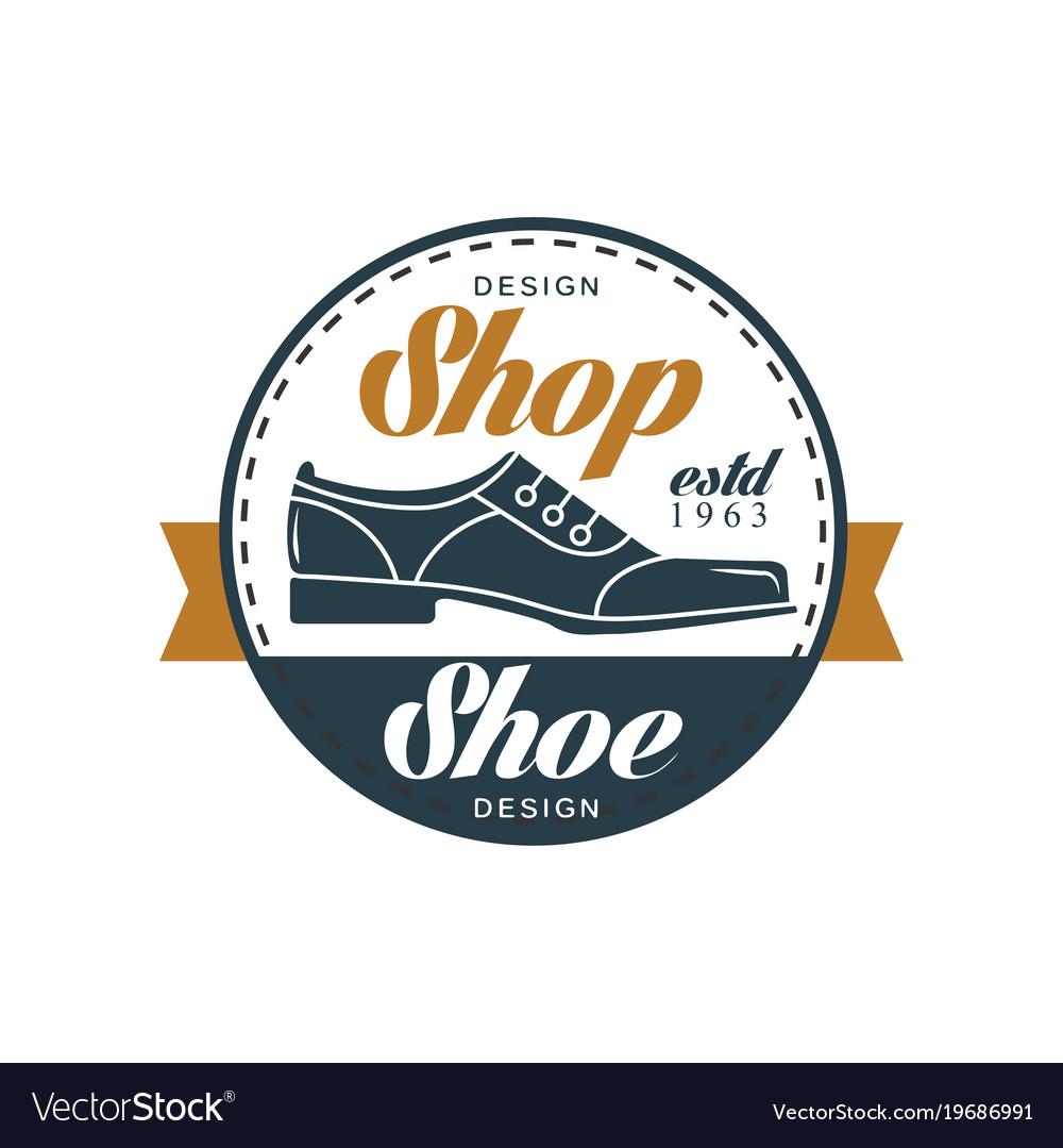Shoe shop logo estd 1963 vintage round badge for.