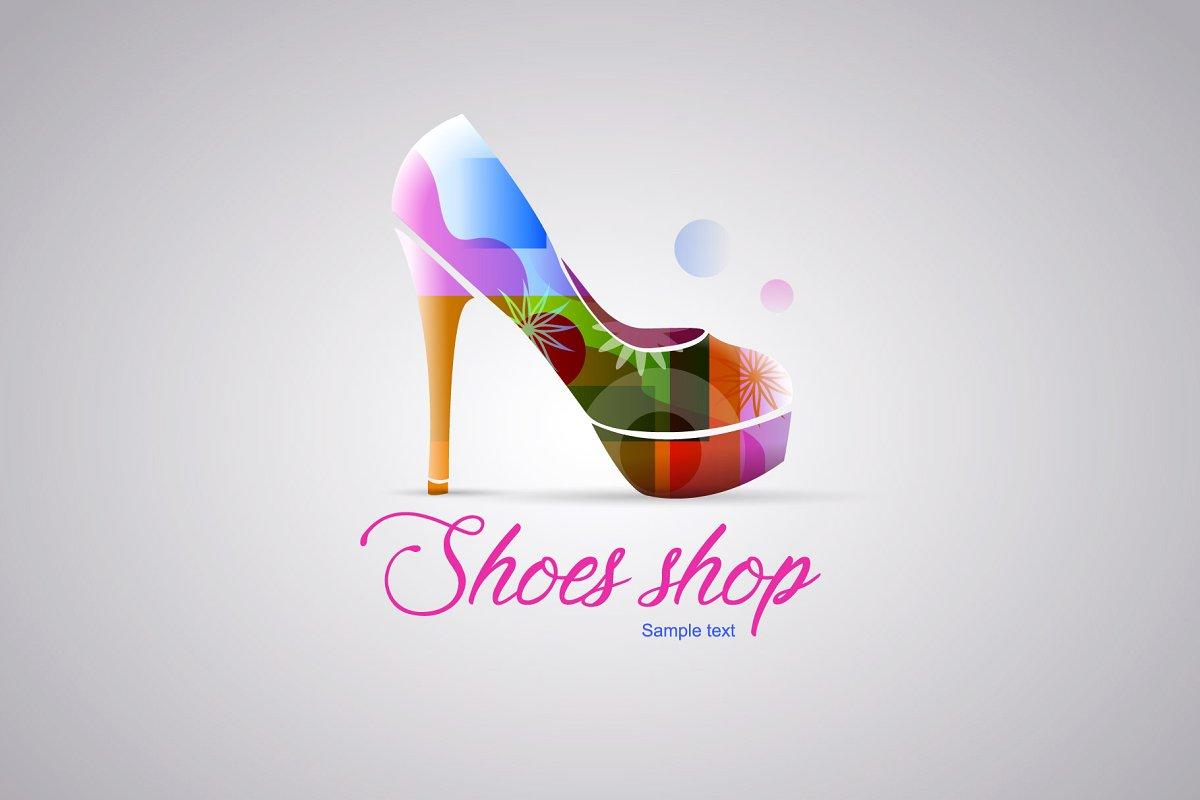 Logo shoes woman shop.
